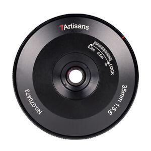7artisans 35mm F5.6 Full Frame Pancake Lens Leica T TL TL2 CL Sigma fp S1 S1H
