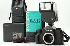 Quasi Nuovo di zecca con scatola Contax ST 35mm SLR Film Camera Corpo + TLA 30 DAL GIAPPONE 360