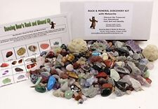 ROCK MINERAL Kids Gift Educational Collection 2 Easy Break Geodes Activity Kit