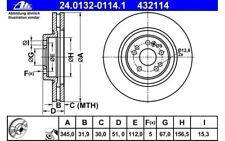 ATE Juego de 2 discos freno Antes 345mm ventilado para MERCEDES 24.0132-0114.1