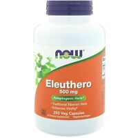 Now Foods ELEUTHERO Adaptogenic Vitality Herb, 500 mg, 250 VCaps STRESS RELIEF