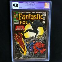 FANTASTIC FOUR #52 💥 CGC 9.0 Restored 💥 1st Appearance of Black Panther! 1966