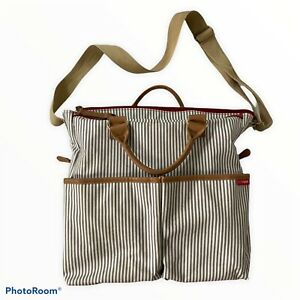 Skip Hop Diaper Bag Special Edition Luxe French Gray Stripes Baby Infant $70 x
