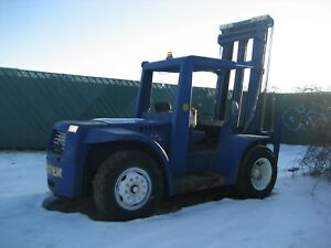 Hyster  H200ES  20,000 lbs Rough Terrain Yard Forklift Lift Truck GM Gas