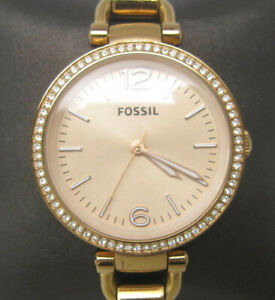 Women's Fossil Georgia Rose 5 ATM WR Analog 33mm Dial Watch (C800)