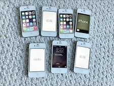 Lot of seven Apple iPhone 4s - 16GB - White (Verizon) A1387 (CDMA + GSM)
