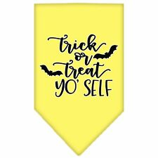 Trick or Treat Yo Self Screen Print Bandana Yellow