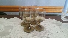 Vintage Libbey Brown 5oz Glassware Set of 4