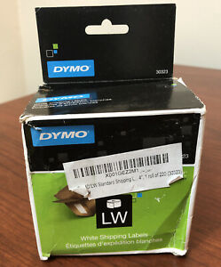 """Set of 4 DYMO Authentic LW Standard 4"""", 1 Roll of 220 White Shipping Labels"""