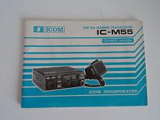 Icom-M55 (Véritable Manuel d'instructions uniquement)... radio _ Trader _ Irlande.