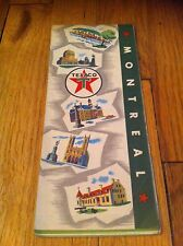 1960 Texaco Oil Gas Montreal Canada Old Road Map RARE! Service Station Vintage