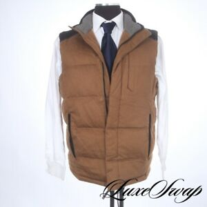 FALL Under Armour x MD Vicuna Brown Flannel Black Colorblock Puffer Vest M NR