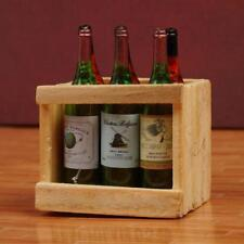 1:12 Doll House Accessories Mini 6 wine bottles with wooden frame Sale.AU