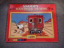 SNOOPY RAILROAD TRAINS COLORING BOOK RARE VINTAGE 1980 PEANUTS