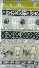 "9 X 18""  Alexander Henry Ghastlie Grounds, Sebastian, Taupe Striped  cotton"