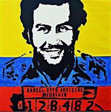 Nicole Gavin Graffiti Handcraft HUGE Oil Painting on Canvas Pablo Escobar 24