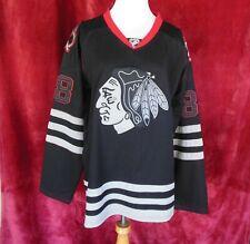 """Reebok Kane 88 Hockey Jersey Black Chicago Blackhawks 48"""""""