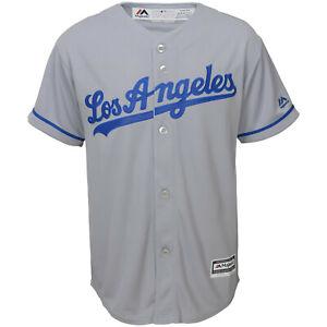MLB Baseball Jersey Los Angeles Dodgers La Grey cool base Majestic Jersey