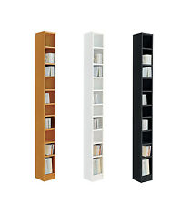HOME Maine Tall DVD and CD Media Storage Tower - Choice of White / Black / Oak