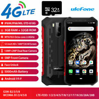 4G LTE Armor X5 Rugged Smartphone Android 9.0 Dual SIM Waterproof NFC Phone +32G