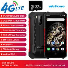 4G LTE Ulefone Armor X5 Rugged Smartphone Android 10.0 Dual SIM Waterproof +32GB