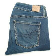 American Eagle Super Stretch Skinny Womens Jeans Blue Size 4