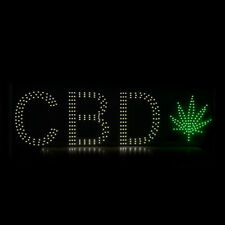 "10""X30"" Cbd Sold Here Shop Open Welcome Led Cbd Sign Dual Color with Picture"