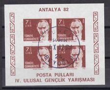 Türkei 1982 gestempelt MiNr. Block 22B  Kemal Atatürk