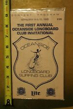 First Annual OCEANSIDE LONGBOARD SURFING CLUB Cr8 Vintage 1985 CONTEST PROGRAM