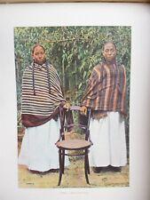 MADAGASCAR:Gravure 19°in folio couleur/ JEUNES FILLES HOVAS