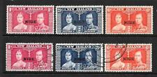 NIUE  1937  CORONATION  SET 3  M&U