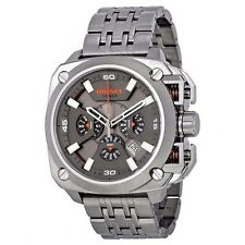 Diesel DZ7344 BAMF Grey Dial Gunmetal Ion-plated Chronograph Men's Steel  Watch