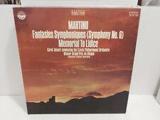 Bohuslav Martinu Fantasies Symphoniques Sym 6 Lidice Czech Philharmonic LP NM