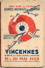 1929 French Aviation Programs Early Airplanes Biplanes Cars Motorcycles Art Deco