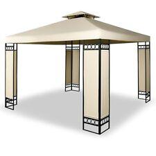 Deluxe Gazebo Garden Shelter 3 x 3m Steel Frame Event Party Tent Wedding Table