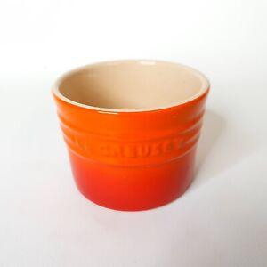 Le Creuset Small Utensil Bowl / Jar 10cm Diameter Volcanic Orange - VGC Free P&P