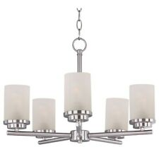 Maxim Lighting Corona 5 Light Chandelier, Satin Nickel - 10205FTSN