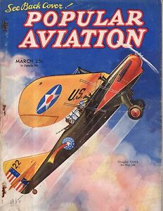 1935 Popular Aviation March-Women's Air Reserve is formed;Gliders;Grudge Jumpers