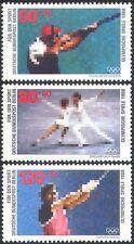 Germany (B) 1988 Shooting/Skating/Athletics/Sport/Olympic Games 3v set (n27507)