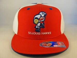 St Louis Hawks NBA Reebok Fitted Hat Cap Size 8 Red White Blue