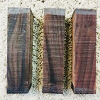 """(3)LOT OF 3 ROSEWOOD POOL CUE BLANK TURNING WOOD KNIFE SCALES 1.5""""x 6"""" FREE SHIP"""