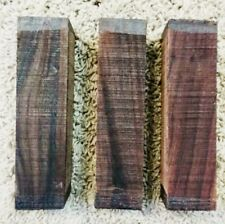 """(3) LOT OF 3 ROSEWOOD POOL CUE BLANK TURNING WOOD KNIFE SCALES 1.5""""x6"""" FREE SHIP"""