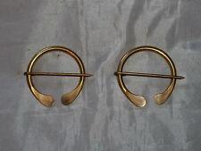 "Solid Brass Cloak/Blanket/Coat Pins-1700/Mountain Man-New Set of (2) 2"" Handmade"