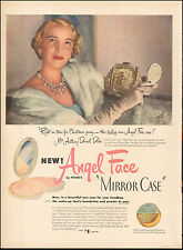 """1950 Vintage ad  Angel Face """"Mirror Case"""" by Ponds retro Fashion Make-up 083017"""