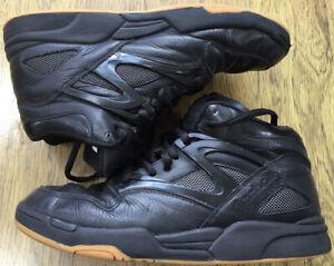 REEBOK PUMP ALL BLACK & GUM~Size 8.5~ RB 409 FLU 4-121476
