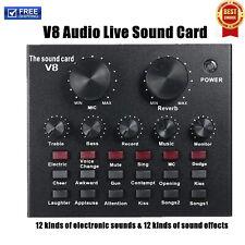 V8 Scheda Audio Live Del Mixer Regolabile Per PC Con Dal Vivo E Microfono N5Q5