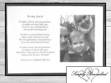 Personalised Uncle Gift Birthdays Fathers Day Thank Yous