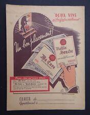 Protège cahier DEUX VINS VIEILLE SOUCHE wine copybook cover Wachbuch