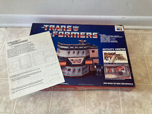 G1 Transformers Activity Center Mail Order Warren 1985 Hasbro Bradley