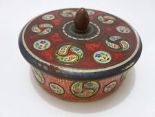 Vintage Tin box Holland Container round embossed